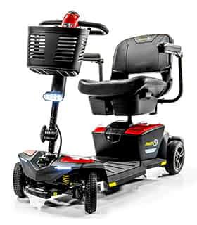 Scooter électrique pour handicapé et mobilité réduite Pride Jazzy Zero Turn en rouge