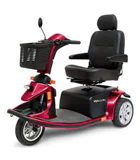 Scooter électrique de mobilité réduite et handicapé Pride Luna Victory en rouge