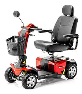 Scooter électrique de mobilité réduite et handicapé Pride Colt Pursuit en rouge