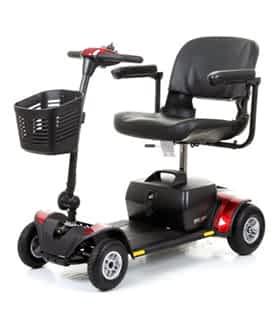 Scooter électrique pour handicapé et mobilité réduite Pride Elite Traveller Plus en rouge