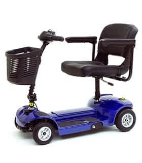 Scooter électrique handicapé et de mobilité réduite Pride Libre LX en bleu