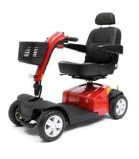 Scooter électrique de mobilité réduite Pride Victory 10ES en rouge