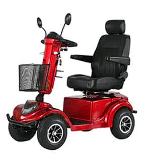 Scooter électrique de mobilité réduite Prima Vital City 4 S en rouge