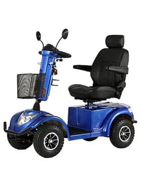 Scooter électrique handicapé Prima Vital Cruiser L4S en bleu