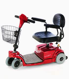 Scooter électrique handicapé et de mobilité réduite Prima Vital Mini V1 en rouge