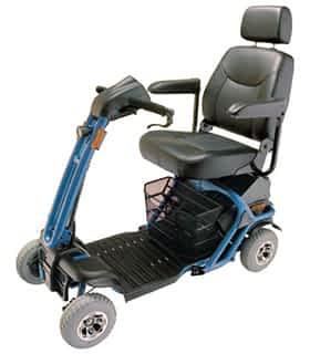 Scooter électrique pour handicapé et mobilité réduite Rascal Liteway 8 en bleu
