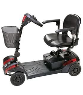 Scooter électrique handicapé et de mobilité réduite Rascal Veo en rouge