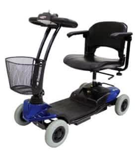 Scooter électrique handicapé et de mobilité réduite Robé Médical ZeniXx en bleu