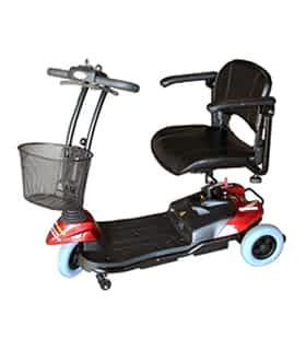 Scooter électrique handicapé et de mobilité réduite Robe Médical Ego Persona HS 15 en rouge