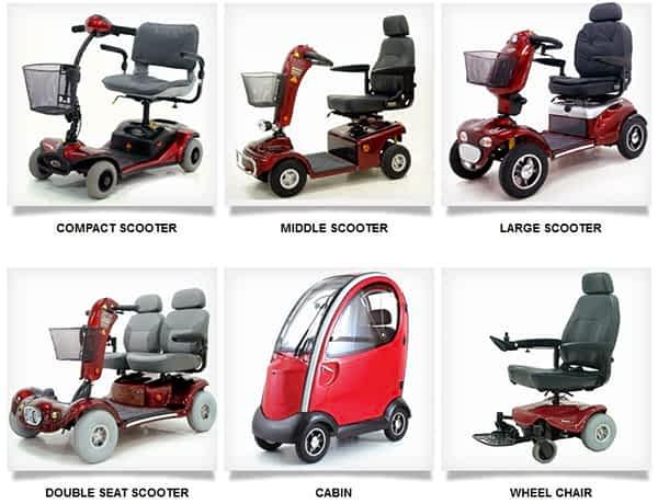 La gamme des scooters électriques et des pièces détachées de Shoprider disponible sur le site Kingmobilité