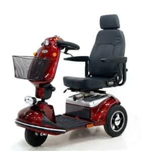 Scooter électrique de mobilité réduite et handicapé Shoprider 778S en rouge