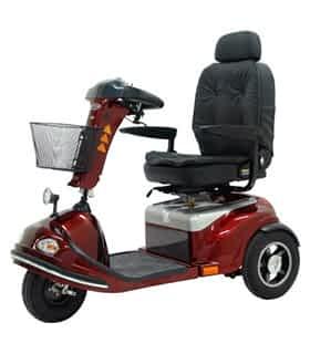 Scooter électrique de mobilité réduite et handicapé Shoprider 778XLSBN en rouge