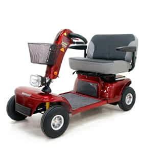 Scooter électrique de mobilité réduite et handicapé Shoprider 9D bi-place en rouge