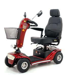 Scooter électrique de mobilité réduite Shoprider GK10 en rouge