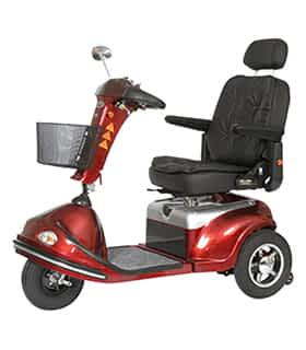 Scooter électrique de mobilité réduite et handicapé Shoprider S-778XLS en rouge