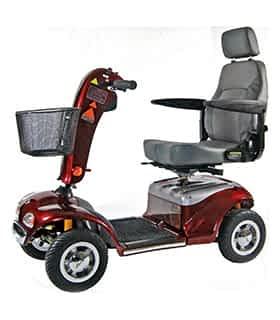 Scooter électrique de mobilité réduite et handicapé Shoprider S-888SLR en rouge