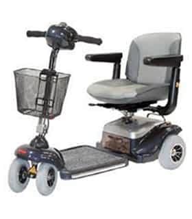 Scooter électrique handicapé et de mobilité réduite Shoprider 777 en gris