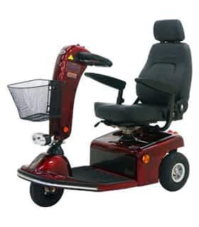 Scooter électrique de mobilité réduite Shoprider 778NR en rouge