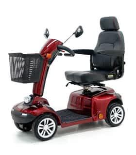 Scooter électrique de mobilité réduite Shoprider 888iX en rouge