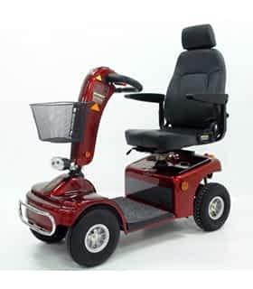 Scooter électrique de mobilité réduite et handicapé Shoprider 889NRS en rouge