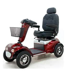 Scooter électrique de mobilité réduite et handicapé Shoprider 889XLSBF en rouge