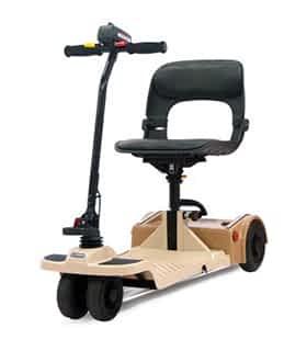 Scooter électrique handicapé et de mobilité réduite Shoprider FS777 en beige