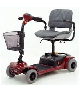 Scooter électrique handicapé et de mobilité réduite Shoprider GK4 en rouge