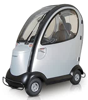 Scooter électrique handicapé et de mobilité réduite avec cabineI Shoprider Traverso en gris