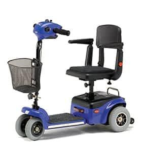 Scooter électrique handicapé et de mobilité réduite Shoprider TE787NA en bleu