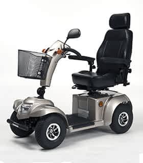 Scooter électrique de mobilité réduite et handicapé Vermeiren Ceres 4 Deluxe en gris
