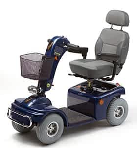 Scooter électrique de mobilité réduite Vermeiren Saturnus 4) en bleu