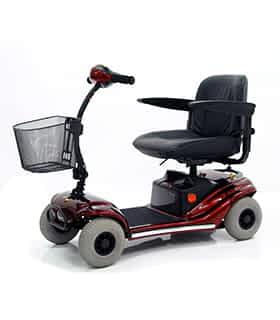 Scooter électrique pour handicapé et mobilité réduite Vermeiren Pluto 4 en rouge