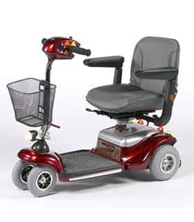 Scooter électrique handicapé et de mobilité réduite Vermeiren Uranus en rouge
