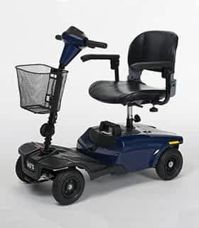 Scooter électrique handicapé et de mobilité réduite Vermeiren Antares 4 en bleu