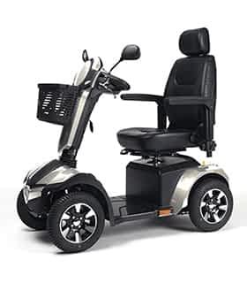 Scooter électrique de mobilité réduite et handicapé Vermeiren Mercurius 4 LTD en gris