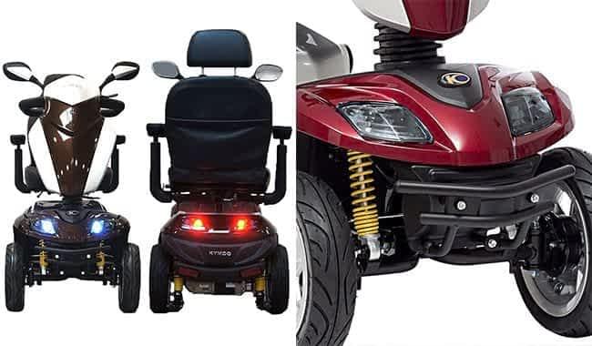 Feux à LED et pare-chocs en acier du scooter électrique pour senior et personne handicapée Kymco Agility