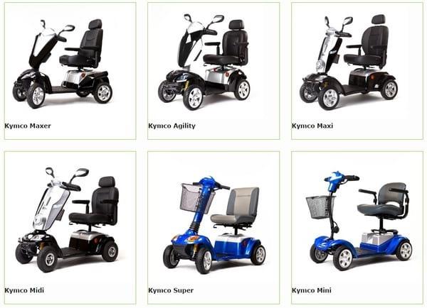 La gamme de scooters électriques de Kymco Healthcare sur le site de Kingmobilité