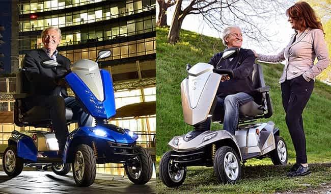Le scooter pour senior et handicapé Kymco Maxer dans la ville et à la campagne
