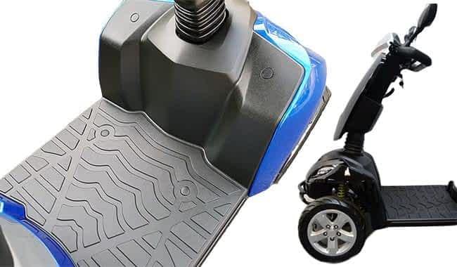 Marchepied et protection pour les pieds en détail du scooter électrique pour personne handicapée Kymco Maxer