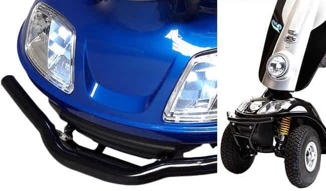 Carénage avec phare à LED directionnel et pare-chocs avant en acier du scooter médical Kymco Midi XLS