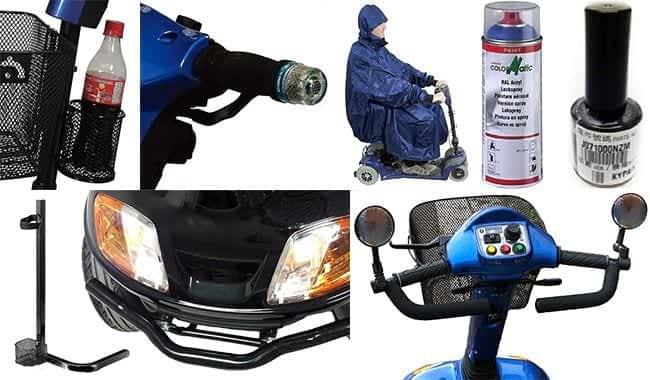 Porte-bouteille, protection guidon, guidon ergonomique, poncho et pare-chocs pour scooter électrique Kymco Super 6 - 8