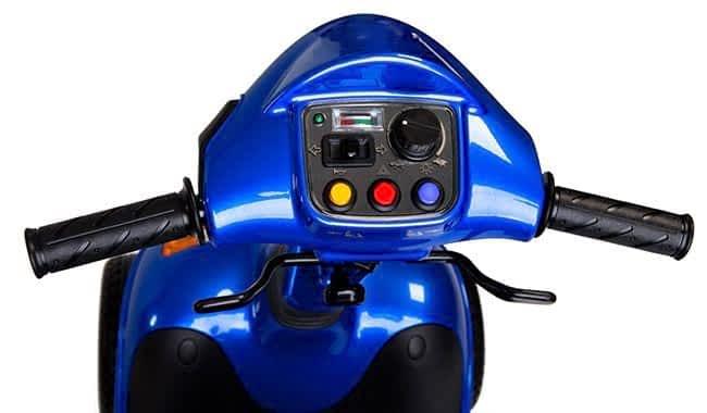 Guidon du scooter électrique médicalisé Kymco Super 6 – 8 en bleu