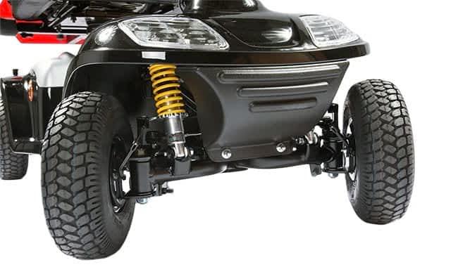 Le châssis devant de scooter électrique Kymco Healthcare 6 & 8 avec roues braqués
